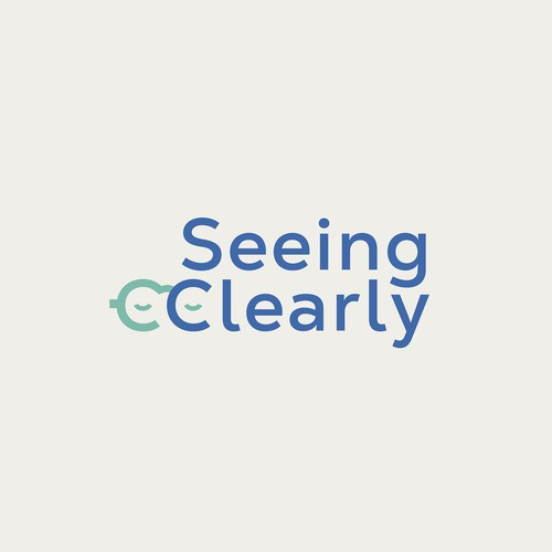 Optical logo with the title 'Logo proposal for Seeing Clearly'