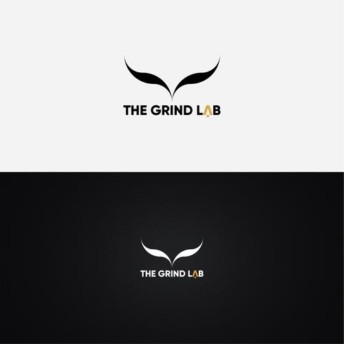 Greek mythology logo with the title 'THE GRIND LAB'