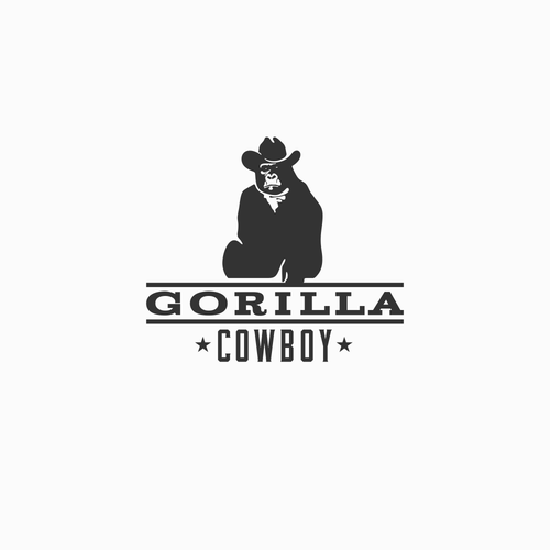 Cowboy logo with the title 'Cowboy Gorilla travel blog logo'