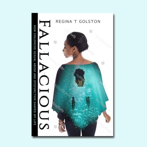 Memoir book cover with the title 'Fallacious'