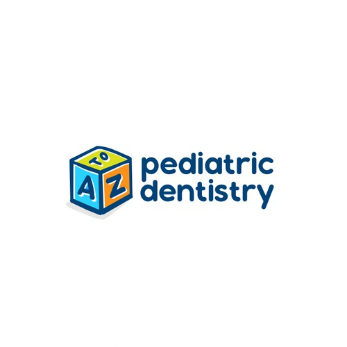 Block design with the title 'Pediatric Dentistry Logo'