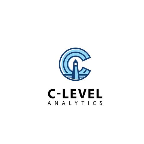 Analytics logo with the title 'Logo design'