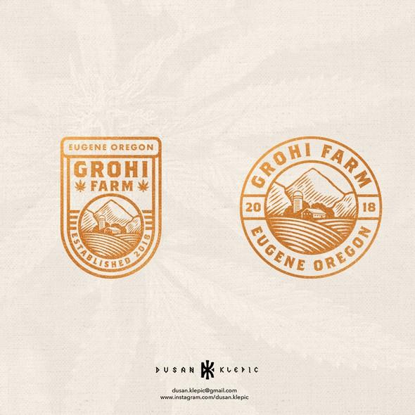 Oregon design with the title 'GroHi Farm'
