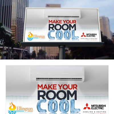 A creative billboard to sell HVAC units.