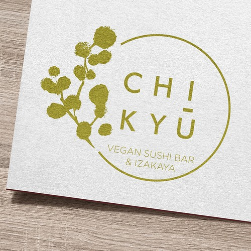Vegan brand with the title 'Logo design for a new vegan sushi joint'