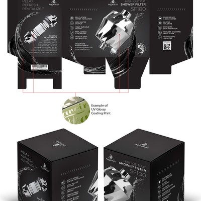 Water filter packaging design