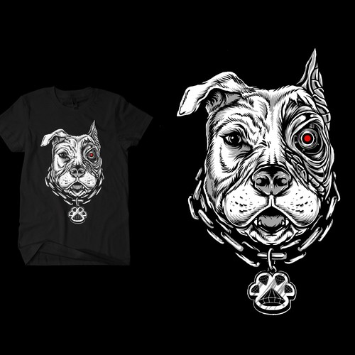 Dog t-shirt with the title 'Terminator Dog T-shirt'