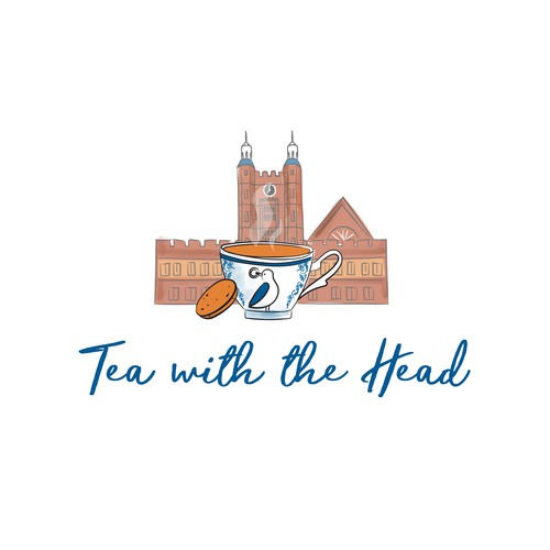 Tea leaf logo with the title 'English boarding schools logo'
