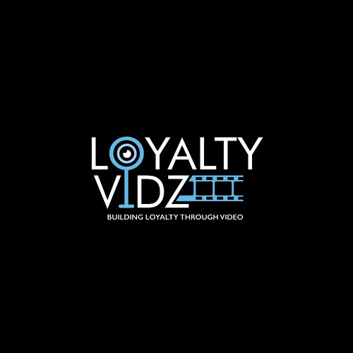 Loyalty design with the title 'Loyalty Vidz Logo Concept'