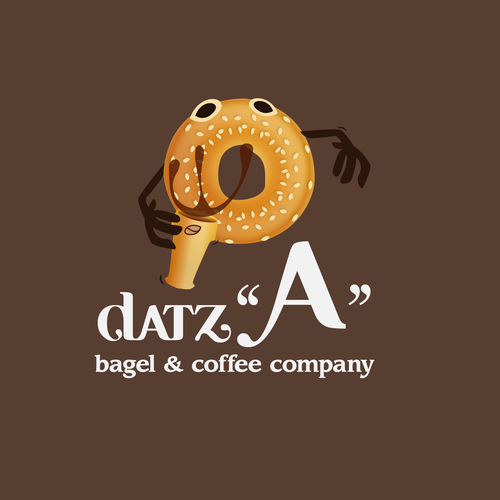 Surprise logo with the title 'Create a logo for a new coffee & bagel mobile food truck'