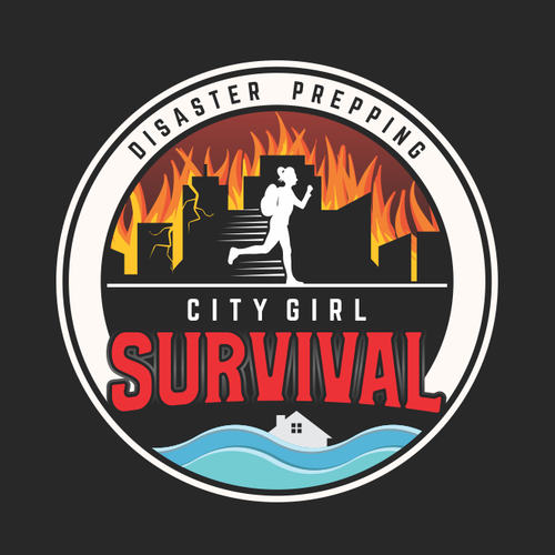 Town design with the title 'City Girl Survival.'