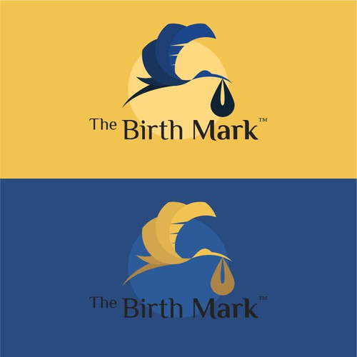 Slick logo with the title 'Logo concept for pregnancy Health and Wellness'