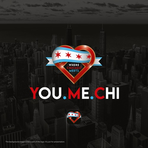 Sky blue logo with the title 'YOU.ME.CHI - Where Chicago Meets'