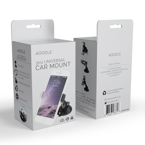 Simple packaging with the title 'AOODLE Box Design'