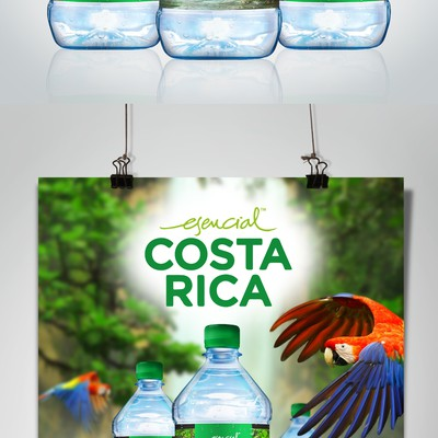 Bottled water label design concept, branding and advertising.