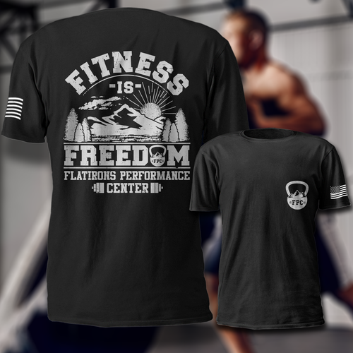 Fitness t-shirt with the title 'Fitness'