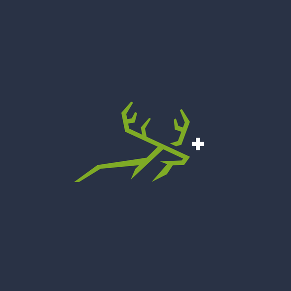 Deer hunting logo with the title 'BuckPLUS+'