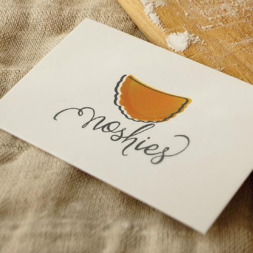 Orange design with the title 'Empanada food logo'