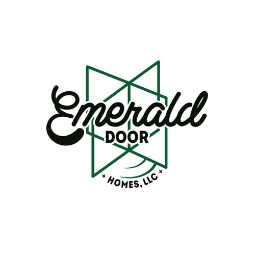 Gem logo with the title 'VINTAGE logo that's a gem! Emerald Door Homes, LLC needs a logo that's cool & memorable!'