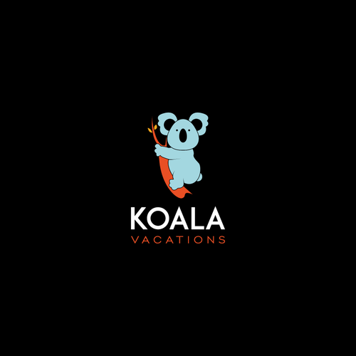 Koala design with the title 'Bold logo concept for Koala Vacations'