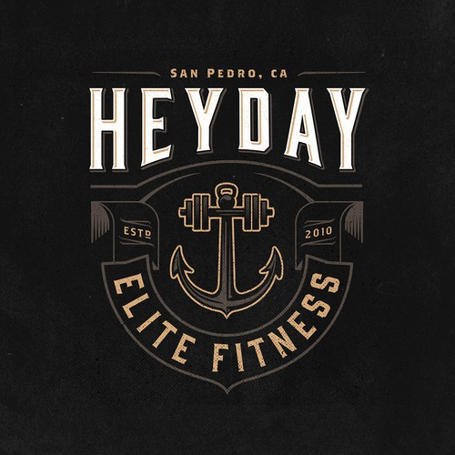 Anchor design with the title 'Create Vintage Logo For Heyday Elite Fitness (CrossFit)'
