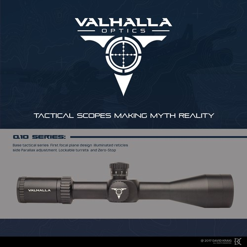 Bullseye logo with the title 'Valhalla Optics'