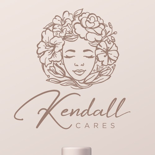Feminine design with the title 'Logo for Organic Cosmetics line'