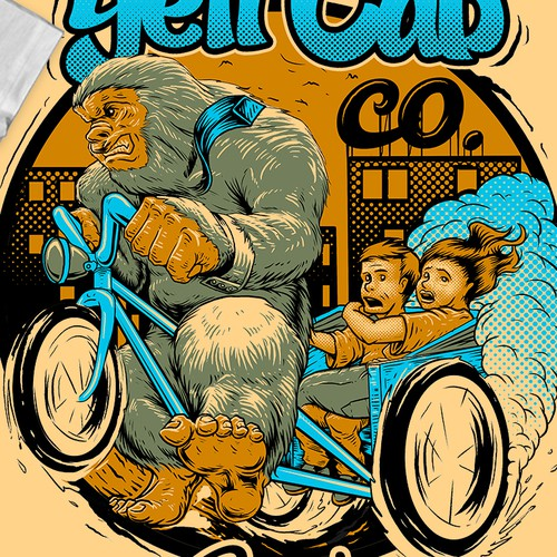 Travel t-shirt with the title 'Yeti Cab .co tee'