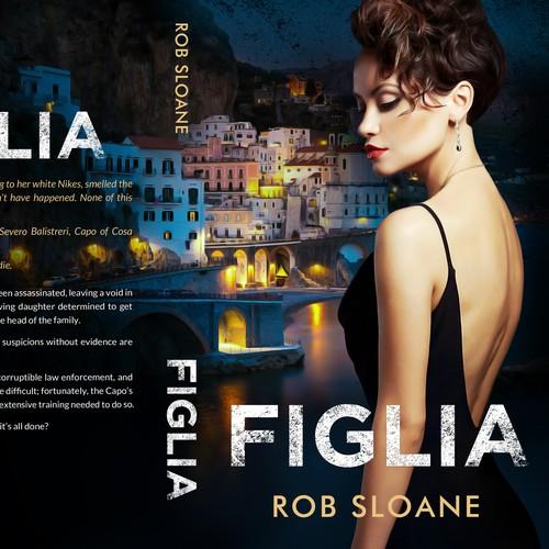 Suspense book cover with the title 'Figlia'