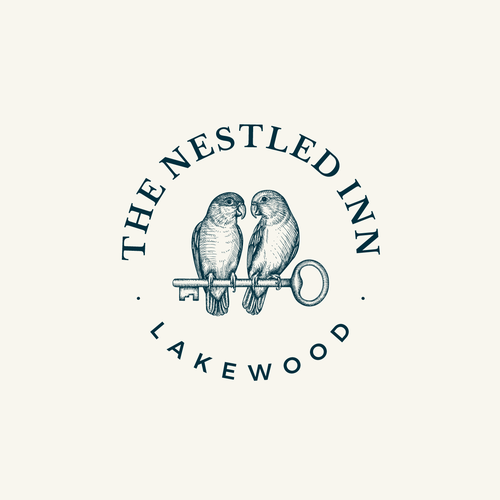 Key design with the title 'Logo design for high-end, boutique rental company - The Nestled Inn'