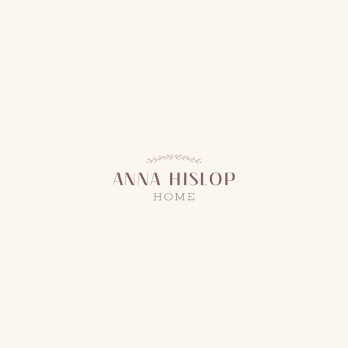 Homeware design with the title 'Anna Hislop Home Logo'
