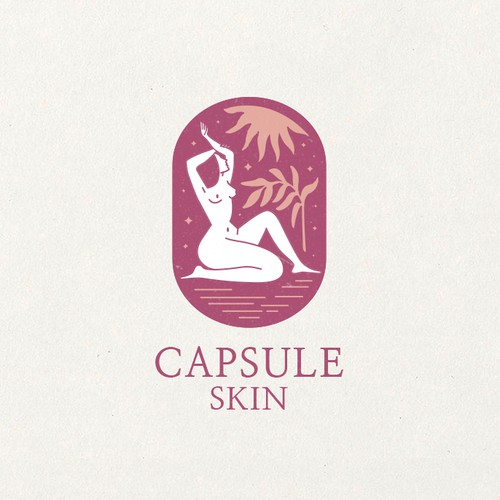 Sun design with the title 'Logo for skin care product'