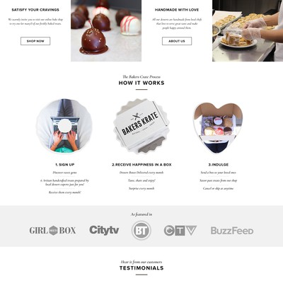 Clean design for a subscription company