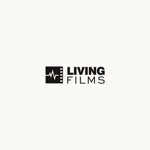 Film industry logo with the title 'lLogo concept for Living Filmes'