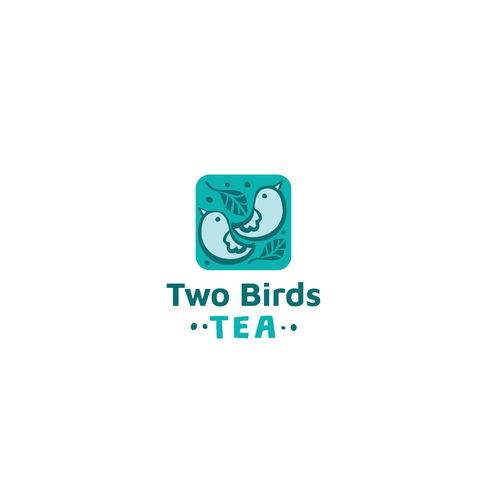 Bird logo with the title 'Logo design for tea subscription box'