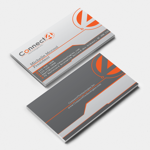Connection design with the title 'Connect4Technologies Business card'