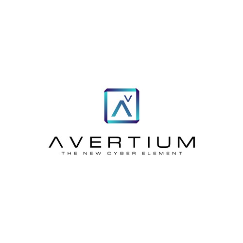 Cyber design with the title 'Logo for Avertium, IT Consulting company'