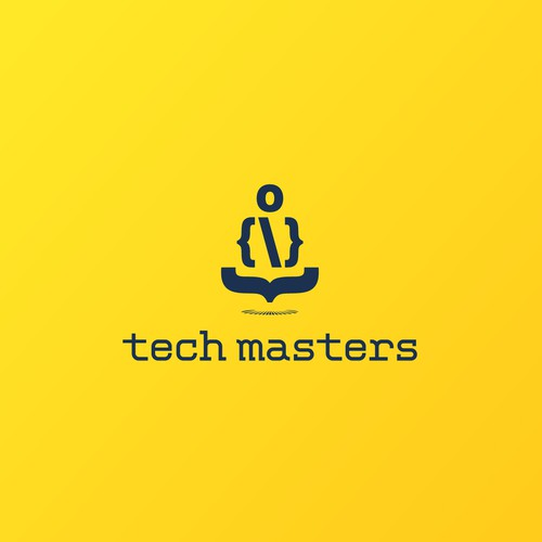 Coding logo with the title 'Tech Masters'