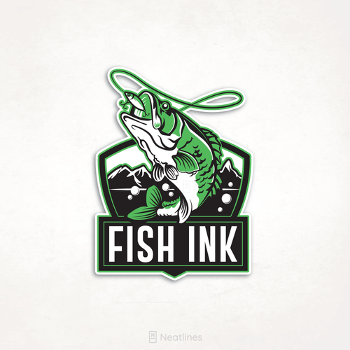 Water logo with the title 'Fish Ink'