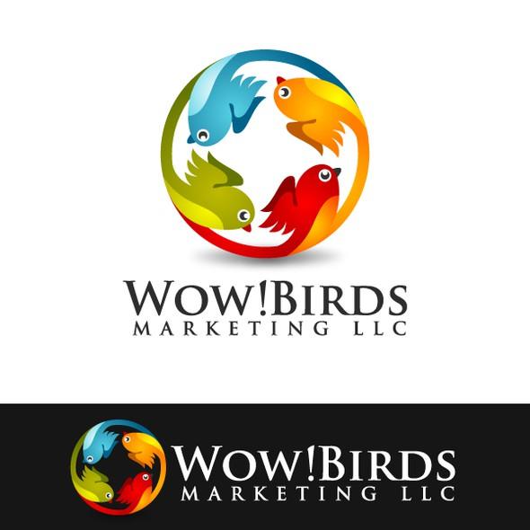 Web 2.0 logo with the title 'WOW! Birds Marketing LLC'