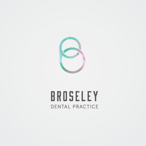 Blue and pink logo with the title 'Logo Concept For Broseley Dental Practice'