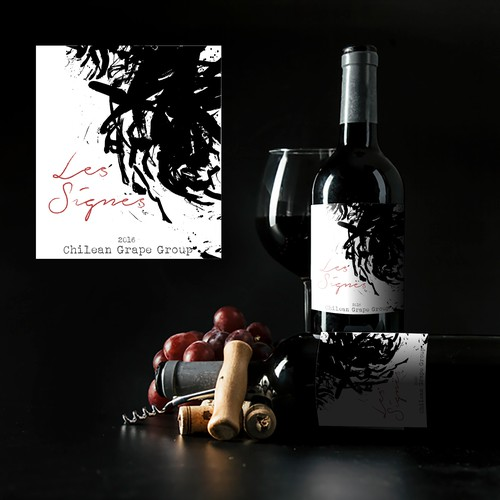 Abstract label with the title 'Wine Label design contest entry'