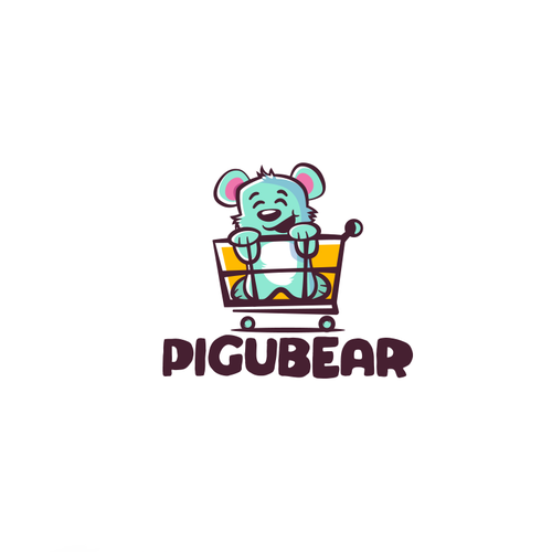 Cart logo with the title 'Logo concept for kids product store'