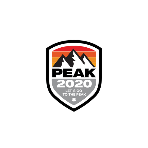 Climbing logo with the title 'Peak 2020'