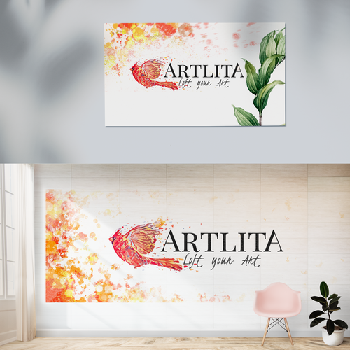 Art gallery design with the title 'Artlita '