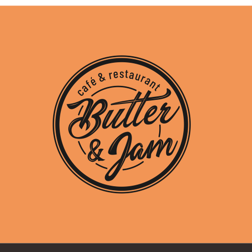 Butter logo with the title 'Design an awesome logo for our cafe and restaurant'