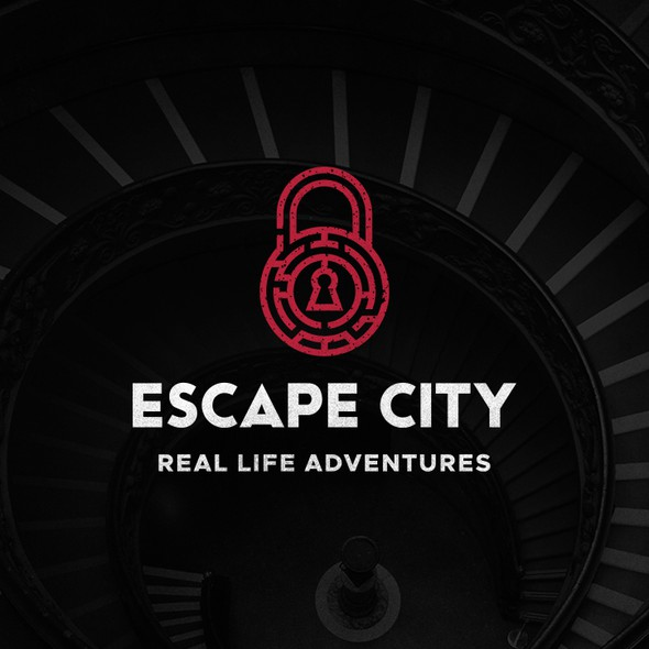 Keyhole design with the title 'Logo For Escape Room'