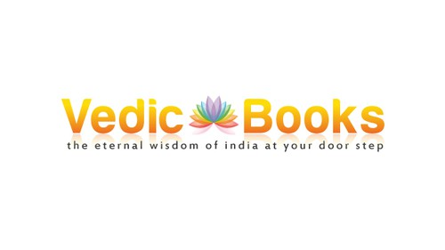 Reflection logo with the title 'A peaceful logo for spiritual book store'