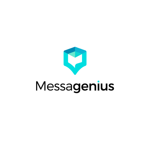 Message design with the title 'Design Logo secure, smart and integrated company'
