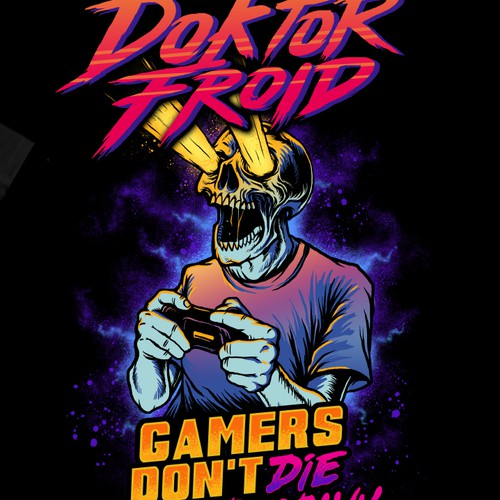 Gaming t-shirt with the title 'T-shirt for Doktor Froid'